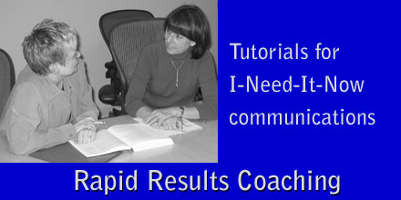 Rapid Results Coaching - Tutorials for I-Need-It-Now Communications